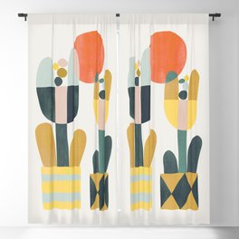 Two flowers Blackout Curtain