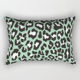 Mint Leopard Rectangular Pillow