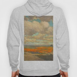 1911 Granville Redmond - A Field of California Poppies Hoody