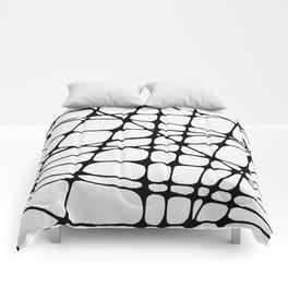 Black lines Comforters