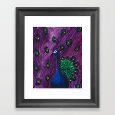 Peacock series Framed Art Print