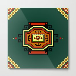 Oriental Rug. Ganja Carpet Style.  Metal Print