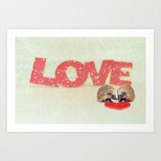 Hedgehog LOVE... Art Print