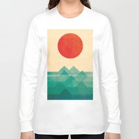 art Long Sleeve T-shirts featuring The ocean, the sea, the wave by Picomodi