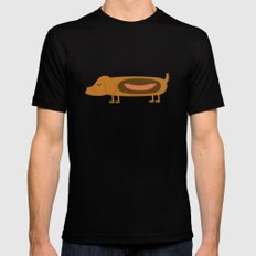 hotdog Mens Fitted Tee Black SMALL
