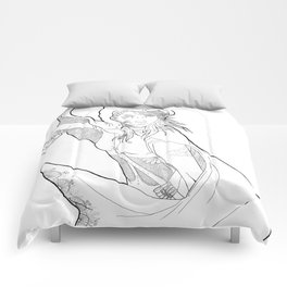 Little Red (linear) Comforters