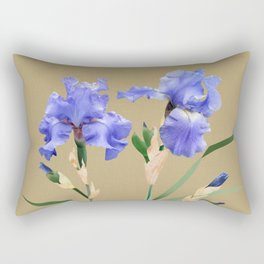 Blue Irises Rectangular Pillow