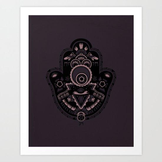 The Secret Hamsa Art Print
