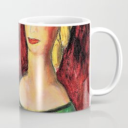 Alfred Henry Maurer - Two Sisters in Green - Digital Remastered Edition Coffee Mug