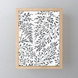 Black Leaves Framed Mini Art Print