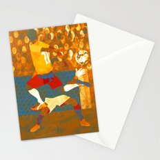 Soccer game. Stationery Cards