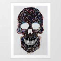 Chromatic Skull V.04 Art Print