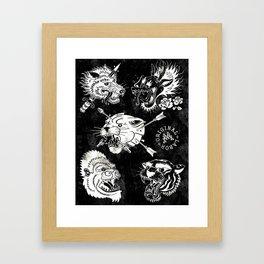 Mix - B&W Framed Art Print