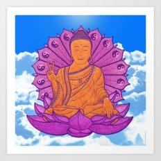 Peace Buddha in the Sky Art Print