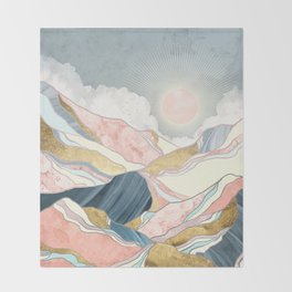 Spring Morning Throw Blanket