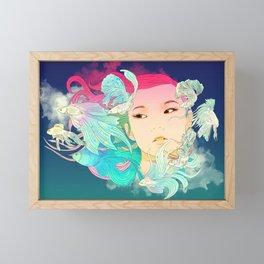 Fish Lady Framed Mini Art Print