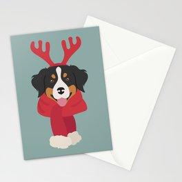 Bernese Mountain Christmas Dog Stationery Cards