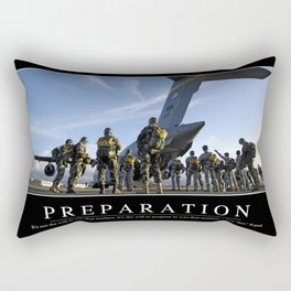 Preparation: Inspirational Quote and Motivational Poster Rectangular Pillow