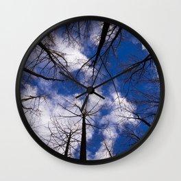 Circle of Trees and Blue Skys Wall Clock