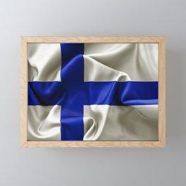 Finland Flag Framed Mini Art Print