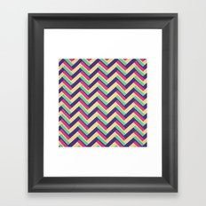 3-D Chevron Framed Art Print