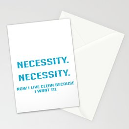 Addiction Recovery Necessity Recovered Person Gift Stationery Cards