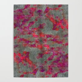 pink and purple pattern Poster