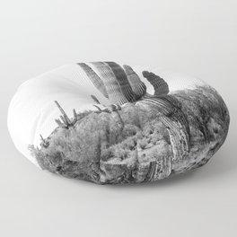 Arizona's Cactus - B&W Floor Pillow