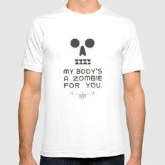 Zombie Love MEDIUM Mens Fitted Tee White