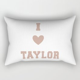 I Love Taylor Swifts Rectangular Pillow