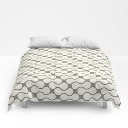 Leather pattern. Dumbbells Comforters