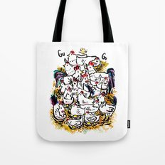 Chicken & peeps Tote Bag