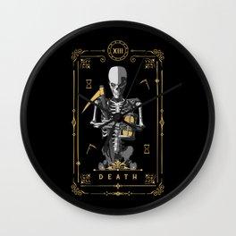 Death XIII Tarot Card Wall Clock