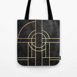 Art Deco Black Marble Tote Bag