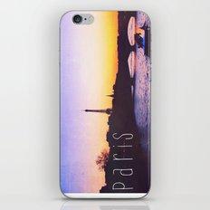 Sunset over Seine River, Paris iPhone & iPod Skin