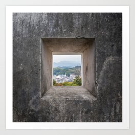 A view from a window, variation 1 Art Print