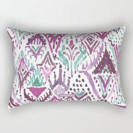 PLUM TRIUMPHANT TRIBAL Ikat Watercolor Rectangular Pillow