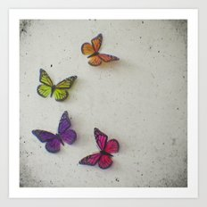 Oh to be a Butterfly Art Print