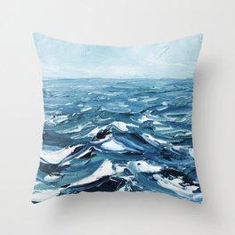 Deep Dark Seas Throw Pillow