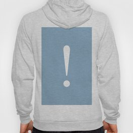 Exclamation point on placid blue color background Hoody