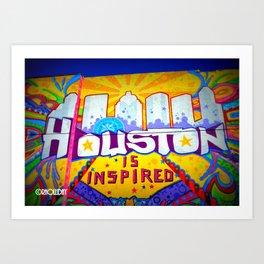 Houston is Inspired Art Print
