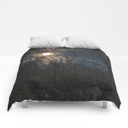 New Year's Moonlit River Comforters