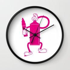 Mr Spray Can Wall Clock