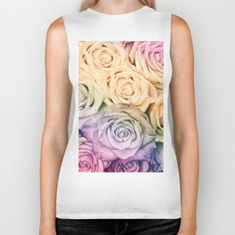 Some people grumble - Colorful Roses - Rose pattern Biker Tank
