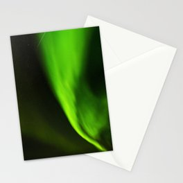 Northern lights and a shooting star Stationery Cards