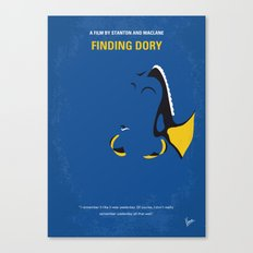 No717 My Finding Dory minimal movie poster Canvas Print