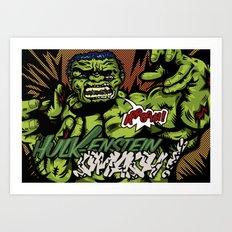 Hulkenstein SMASH! Art Print