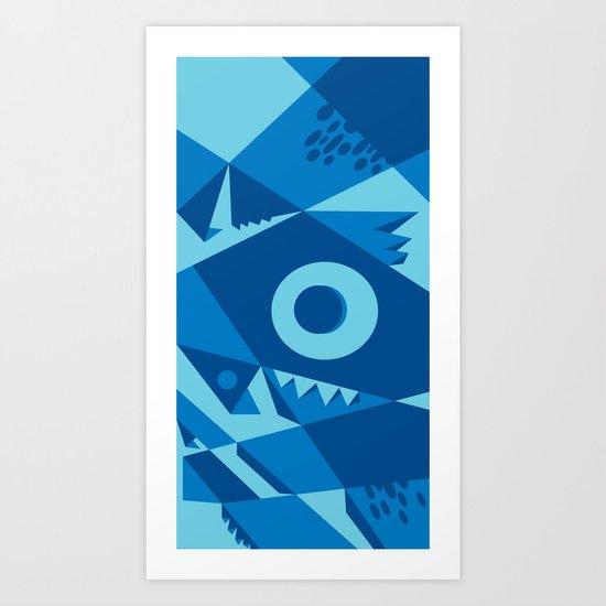 blue monster! Art Print
