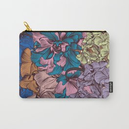 Petunia flowers in vintage style. Vector illustration Carry-All Pouch