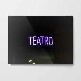 Theater Sign at Night Metal Print
